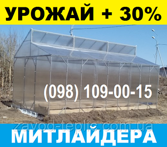 МИТЛАЙДЕРА ТЕПЛИЦА 3х4 с Поликарбонатом 4мм