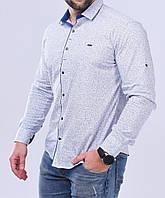 Рубашка мужская S,M длинный рукав. Турция. Молодежная турецкая рубашка трансформер