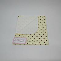 Детская непромокаемая пеленка  шоколадный звездопад 50 х 70 см Тм Миля(0632)