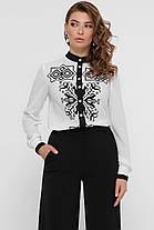 Эффектная женская блузка с узором, размер S-XL в стиле вышиванка, фото 3