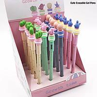 Ручка гелевая пишет-стирает Кактус, стирается резинкой, синяя 1709-0119