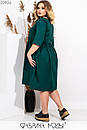 Платье - рубашка большого размера с пуговицами спереди и рукавом 3/4 1ba517, фото 4