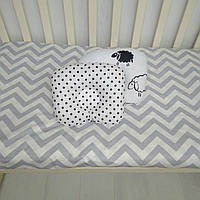 Ортопедическая подушка для младенцев антиалергенная Т.М Миля Барашки на белом 22 х 26 см (186)