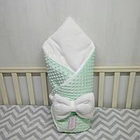 """Зимний конверт на выписку """"Минки"""", конверт-одеяло на выписку для мальчика со съемным синтепоном"""