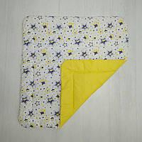 Детское хлопковое одеяло Т.М.Миля Жёлтые звездочкии 80 х 85 см