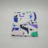 Пеленка непромокаемая Разноцветные дракончики  70 х 80 см Тм Миля(0545), фото 1