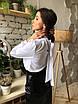 Прямая закрытая женская блуза с длинным рукавом и бантом сзади на воротнике 73rz324, фото 4