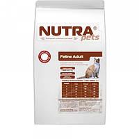 Сухой корм для взрослых котов с говяжей печенью NUTRA pets  Feline Adult Beef liver 10 кг