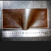 Кожаный мужской кошелек/шкіряний гаманець.Тонкий мини кошелек, портмоне, бумажник /тонкий міні гаманець