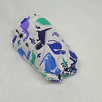 Простынь на резинке в детскую коляску Миля хлопок Динозаврики 60 х 120 см (0248)
