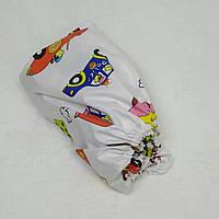 Простынь на резинке в детскую коляску Миля Ретро машинки 60 х 120 см (0254)