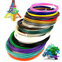 Набор PLA пластика 10 цветов 100 метров для 3D Ручки