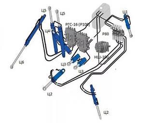 Запчастини гідравліки трактора МТЗ