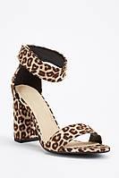 Шикарные леопардовые женские босоножки на широком каблуке. Размеры 36, 37, 38, 39
