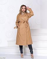 """Стильное женское демисезонное пальто большого размера """" Виолетта"""" 48-52, 54-58"""