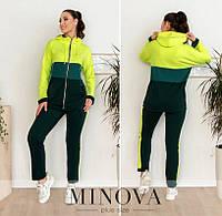 Спортивний костюм жіночий (3 кольори) НФ/-3290 - Зелений, фото 1