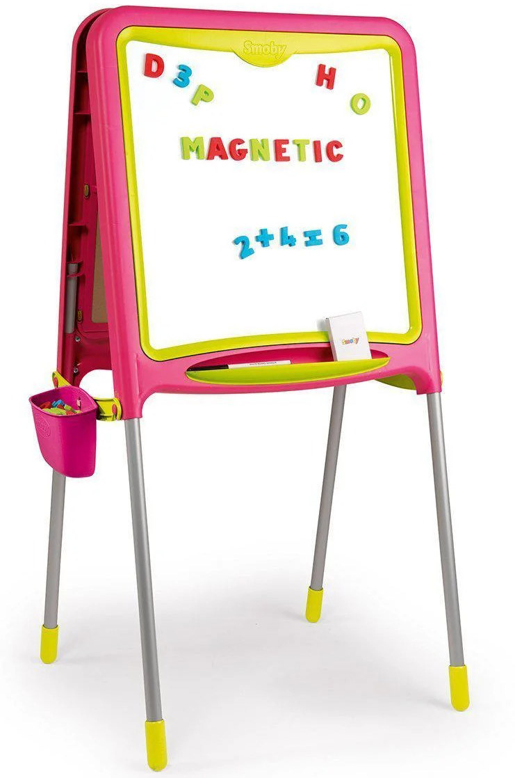 Двусторонний детский мольберт для рисования складной Smoby 410303 для детей