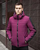 "Куртка мужская весенняя с капюшоном Pobedov Jacket ""Pasparty"" бургунд"