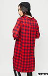 """Сукня-сорочка в клітку Karree """"Спірит"""" трикотаж асиметричний низ (білий, р. L), фото 7"""