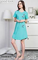 Хлопковая ночная рубашка VIENETTA c коротким рукавом