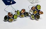 Фигурный серебряный набор с цветным цирконом  Амидея, фото 2