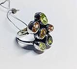 Крупное кольцо с  цветным цирконом серебро Амидея, фото 2