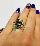 Крупное кольцо с  цветным цирконом серебро Амидея, фото 3