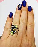 Крупное кольцо с  цветным цирконом серебро Амидея, фото 4