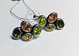 Фигурные серьги с цветным цирконом серебро Амидея, фото 2