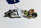 Фигурные серьги с цветным цирконом серебро Амидея, фото 3