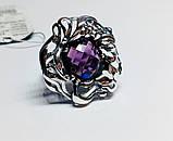 Большое кольцо с фиолетовым аметистом серебро Ирида, фото 2