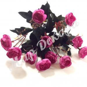 Букет роз пионовидных мелких, сиреневый, 30 см