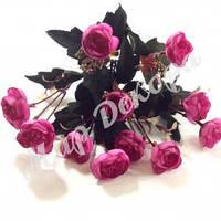Букет роз пионовидных мелких, сиреневый, 30 см, фото 1