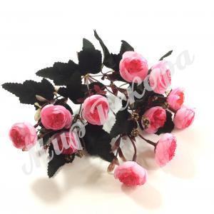 Букет роз пионовидных мелких, розовый, 30 см