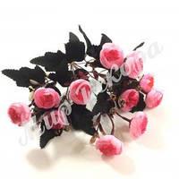 Букет роз пионовидных мелких, розовый, 30 см, фото 1