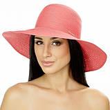 Летняя женская шляпа поля средние 10 см цвет красный, фото 2