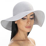 Летняя женская шляпа поля средние 10 см цвет красный, фото 3