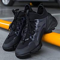 Женские кроссовки Dior D-Connect Black 1в1 как Оригинал! ТОП (ААА+)
