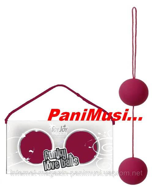 Вагинальные шарики Funky Love Balls Violet Фиолетовые медицинский силикон увеличивают оргазм Toy Joy