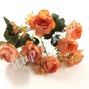 Букет роз пионовидных, персиковый, 30 см