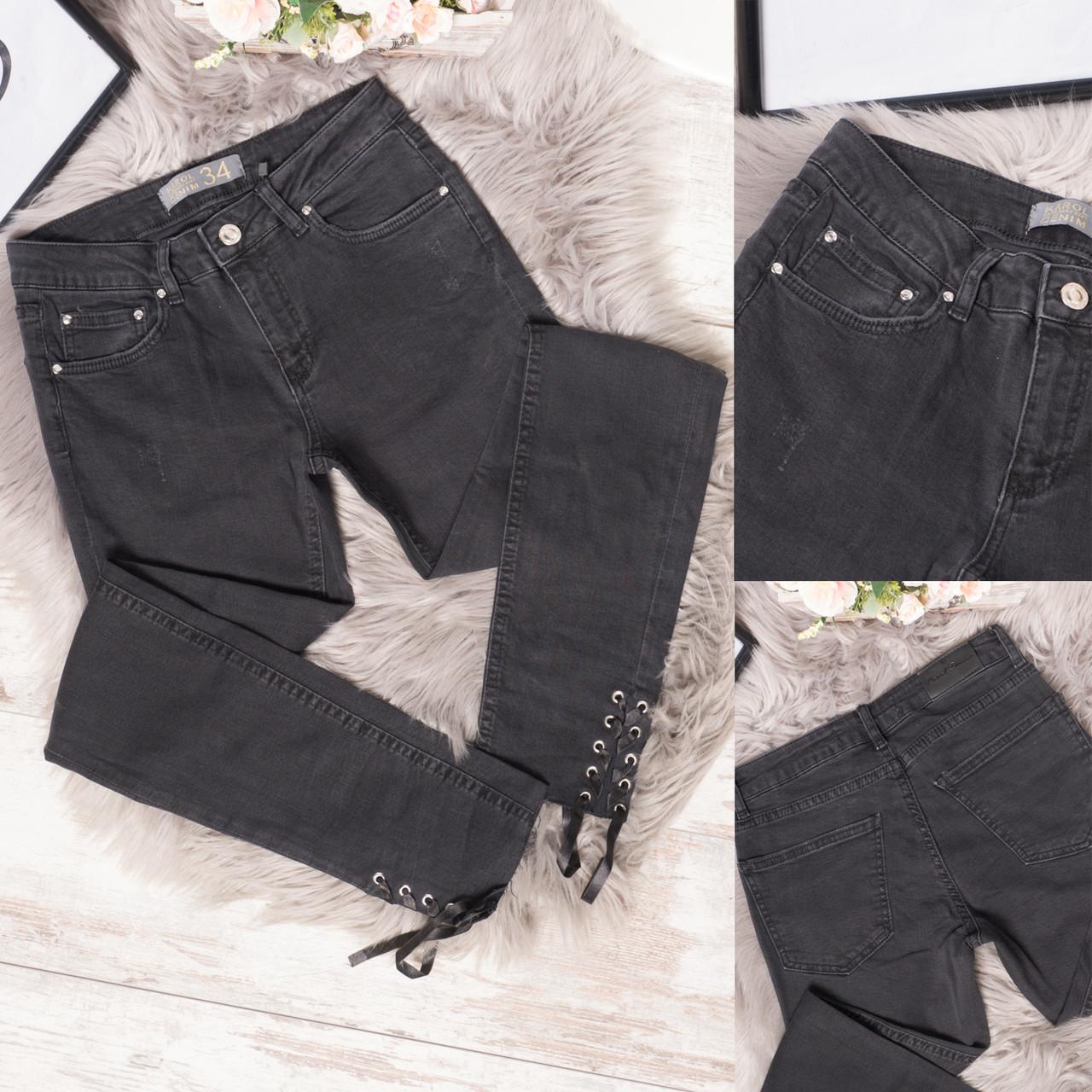 17330 Karol джинсы женские темно-серые стильные стрейчевые (34-40, евро, 6 ед.)