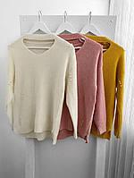 Женскийвязаный свитер с жемчугом, в расцветках. СК-5-0220
