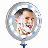 Зеркало на Присосках для Ванны 12 LED Fogless Shower Mirror