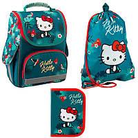 Набор первоклассника для девочки рюкзак, сумка для обуви, пенал kite hello kitty 501