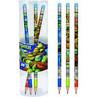 Карандаш графитный с ластиком круглый 1 Вересня Ninja Turtles 280441-0113