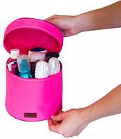 Круглый органайзер для косметики (Розовый), фото 1