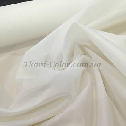 Тканина для підкладки нейлон молочний 170Т, фото 2