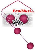 Вагинальные шарики Funky Love Balls Pink Розоввые медицинский силикон увеличивают оргазм Toy Joy