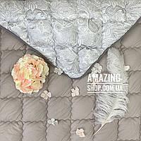 "Одеяло двухспальное на холлофайбере""ODA"" 175*210 см | Тепла ковдра, холлофайбер. Стеганое одеяло ОДА"