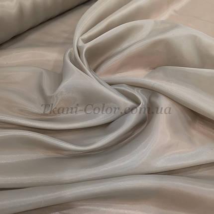 Тканина для підкладки нейлон бежевий 170Т, фото 2